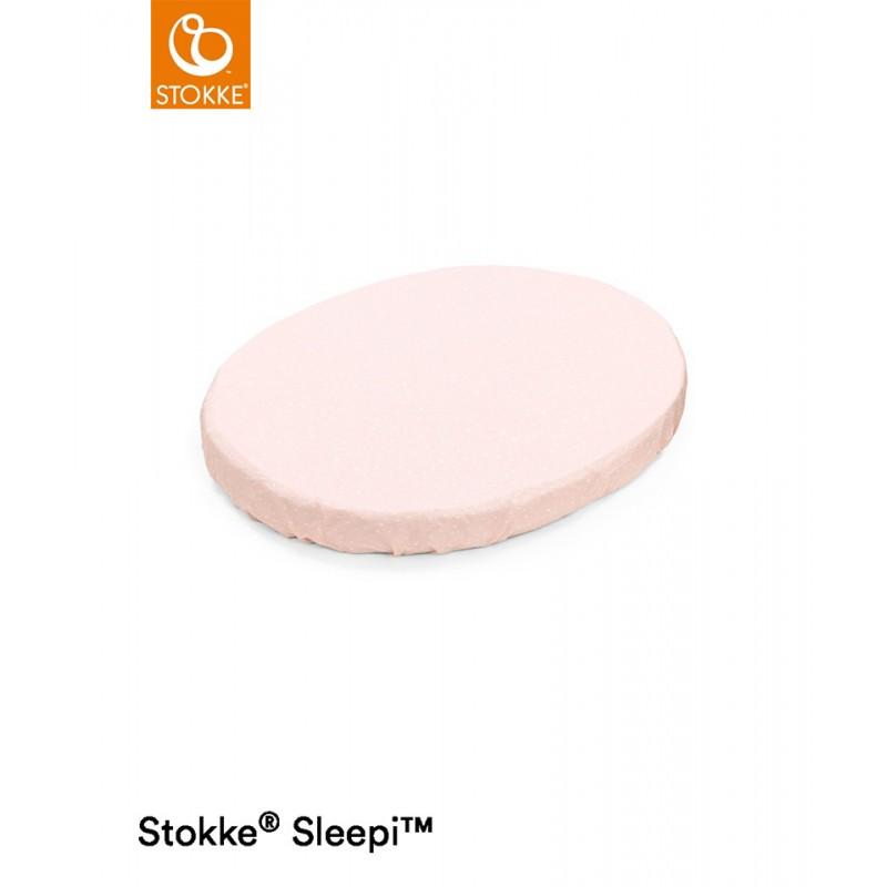 Stokke Sleepi Mini Lenzuolo Sotto Pink Bee